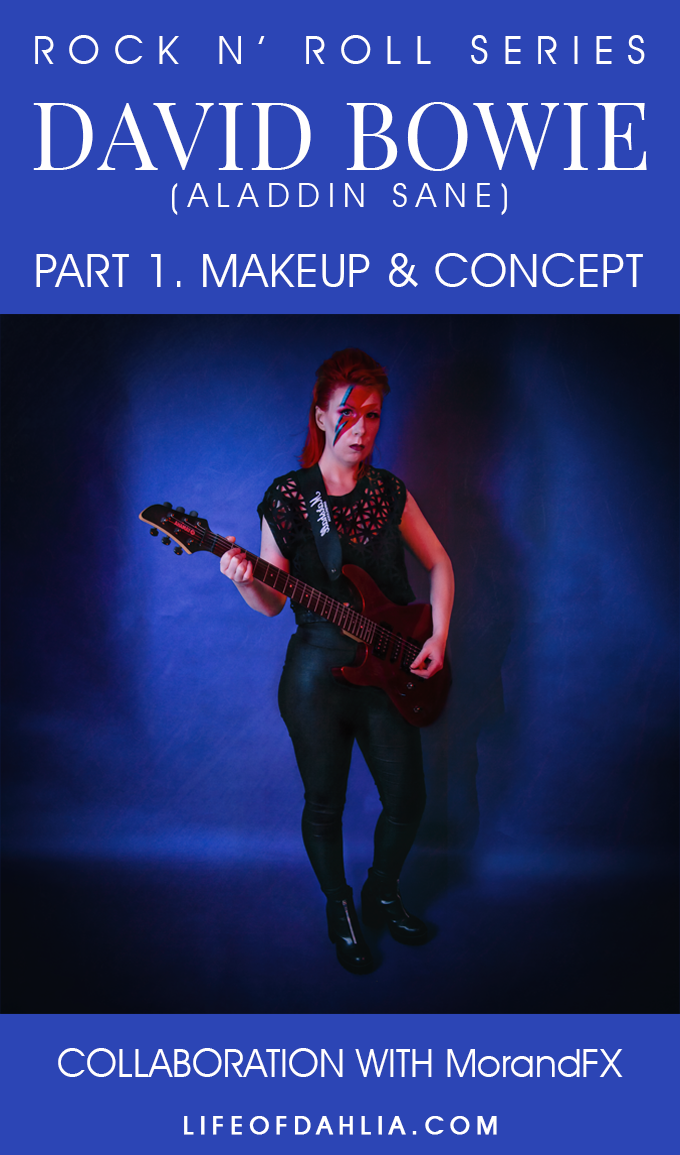 Rock n Roll Series: Rock N' Roll Collab with MorandFX, Pt 1. Makeup & Concept | Life of Dahlia