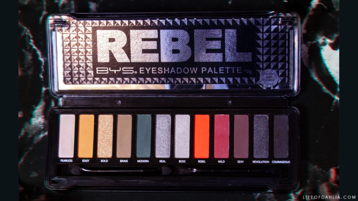 BYS Cosmetics Rebel Eyeshadow Palette Review + Eye Looks