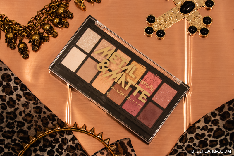 Australis Cosmetics Metal & Matte Eyeshadow Palette Review | Life of Dahlia