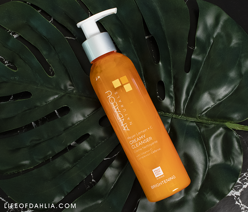 Skincare Mini Reviews | Life of Dahlia | Andalou Natureals Meyer Lemon + C Creamy Cleanser