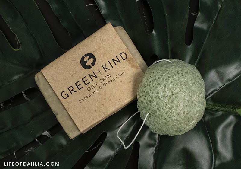 Skincare Mini Reviews | Life of Dahlia | Green + Kind Solid Cleaning Facial Cleanser and Konjac Sponge
