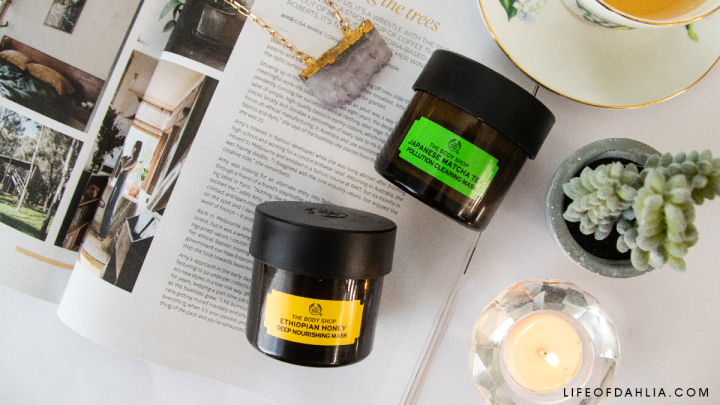 The Body Shop Facial Mask Review – Japanese Matcha Tea Pollution Clearing and Ethiopian Honey Deep Nourishing Masks