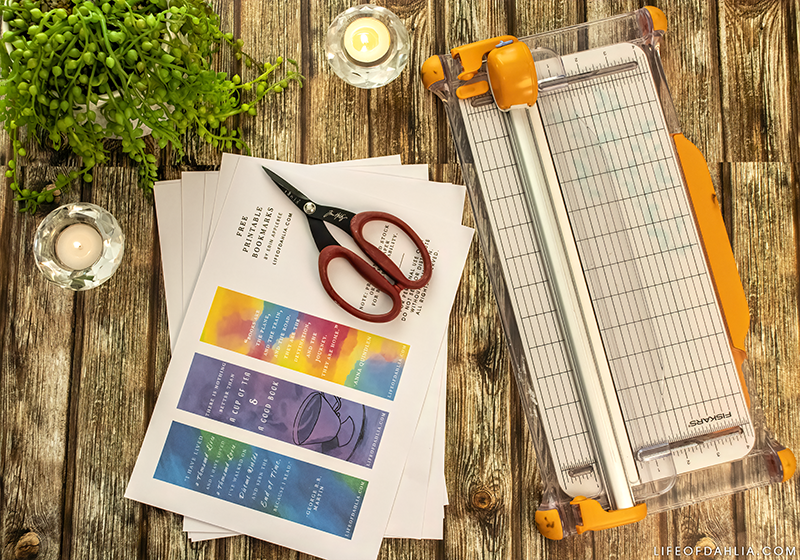 2020 Reading Challenge | Free Printable Bookmarks 01 - Quotes | Life of Dahlia