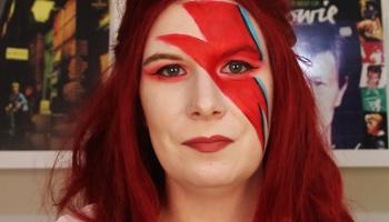 Rock N' Roll Makeup Series – Recreating David Bowie's Lightning Bolt Makeup Look | Life of Dahlia