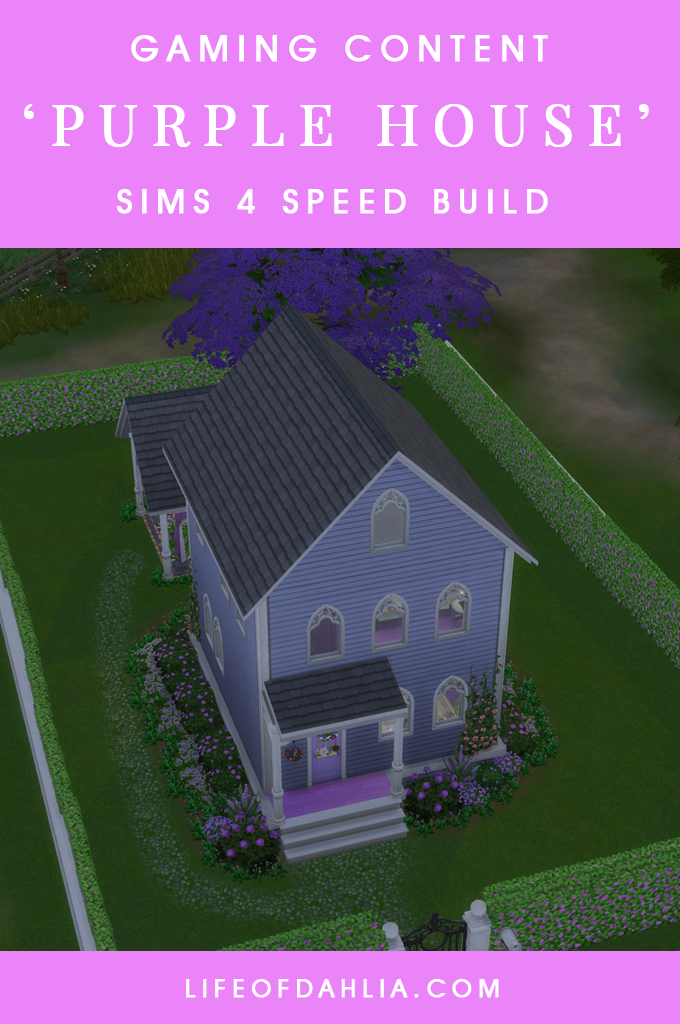 Sims 4 Speed Build – Small Purple House - One Colour Building Challenge | Life of Dahlia